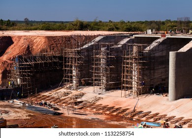Construction work for dam at Thailand.