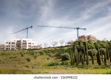 construction work of a new building in spain.