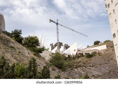 construction work of a new building in spain