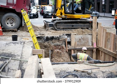 Construction Work on Road