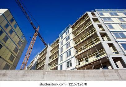 Construction work site, Stockholm, Sweden