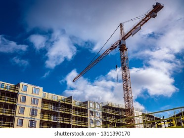 Construction work site in Sweden