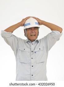 Construction Worker ; Dangerous, Surprise, Shock, Failure