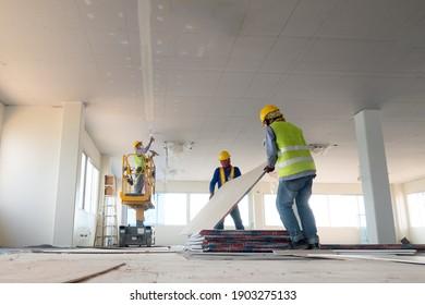 Deckenarbeiten an der Bauarbeiteranlage