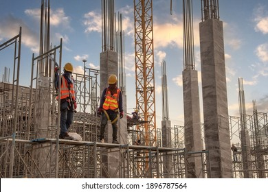 Construction worker at construction site