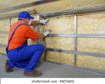 Wärmedämmerhaus für Bauarbeiter mit Mineralwolle