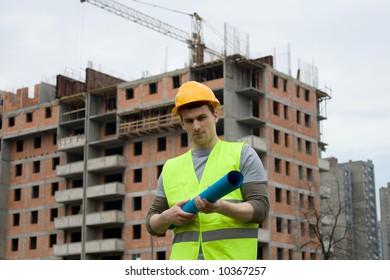 construction worker in uniform at work