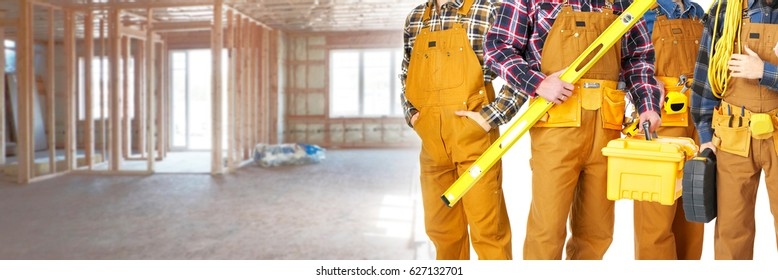 Construction workers team