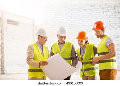Construction workers. Team of project