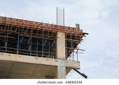 construction in working on high ground building  in site workplace