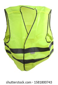 Construction yellow vest. Isolated object on white background