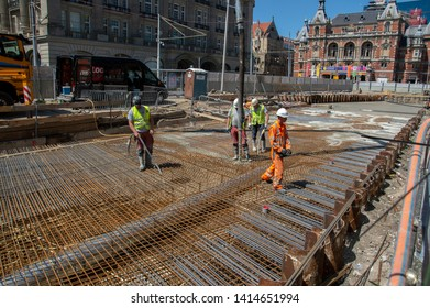 Constructions At The Leideseplein At Amsterdam The Netherlands 2019