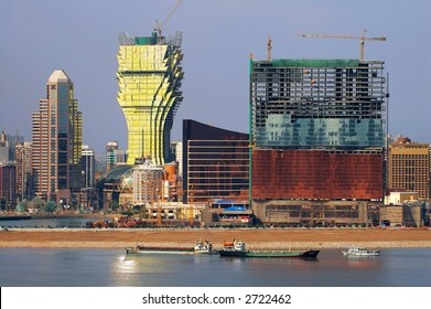 The constructions of new casinos in Macau, the eastern Las Vegas casinos