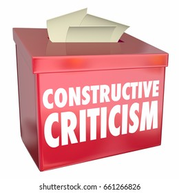 Constructive Criticism Suggestion Box Helpful Feedback 3d Illustration