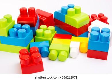 constructor bricks isolated on white background