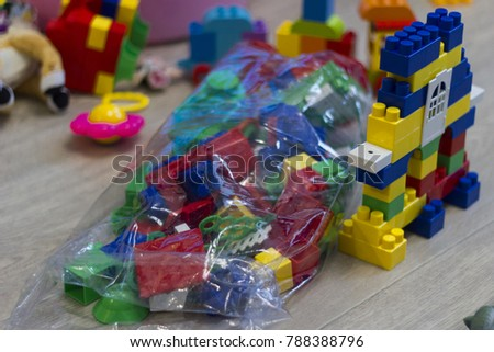 Constructor Mess Apartment Kids Toys Stock Photo Edit Now