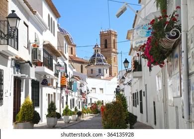 Consuelo church in Altea town on September 22, 2013 in Costa Blanca Alicante Spain