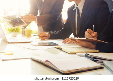 Consult business, Man meeting with finance.