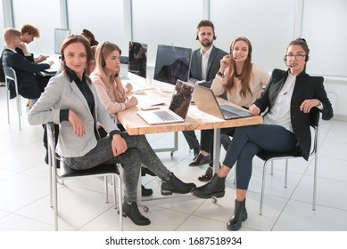 consultants customer service at the workplace in the office.