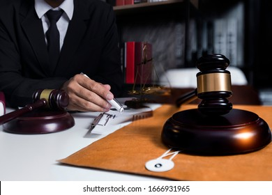 Consultation of Businessman or lawyer team meeting with client, Law and Legal services concept, Good service cooperation,