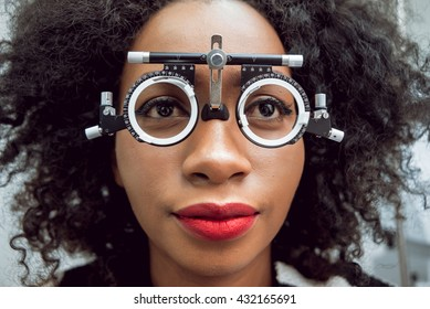 Consultation with an ophthalmologist. Medical equipment