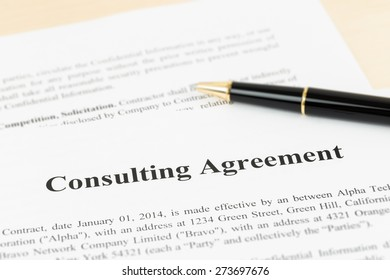 Consulting agreement; documents and information are mock-up