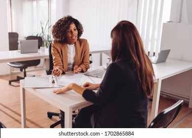 Consulting with a financial manager at the bank