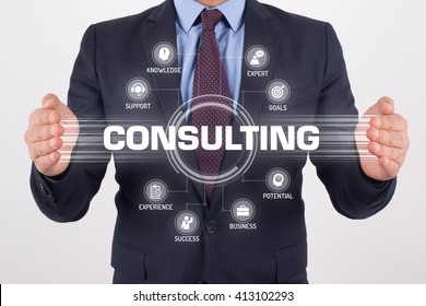 CONSULTING TECHNOLOGY COMMUNICATION TOUCHSCREEN FUTURISTIC CONCEPT
