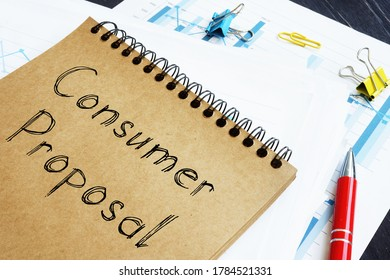 Consumer Proposal is shown on the conceptual business photo