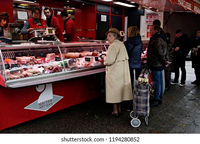 A consumer in a public market in Lille, France on Nov. 19, 2016