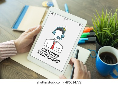 CONSUMER RETAIL SUPPORT CUSTOMER RELATIONSHIP CONCEPT