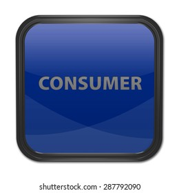 Consumer square icon on white background