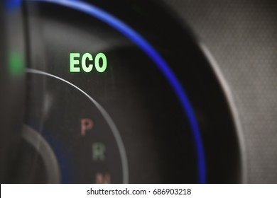 Consumption light shown the engine has the best economic driving,low carbon dioxide save environment