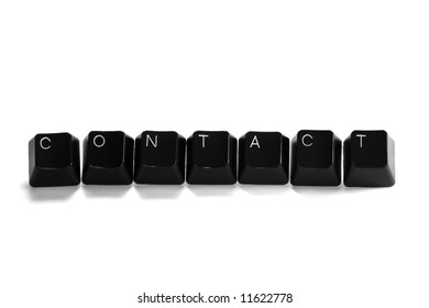 contact - computer keys, isolated on white background