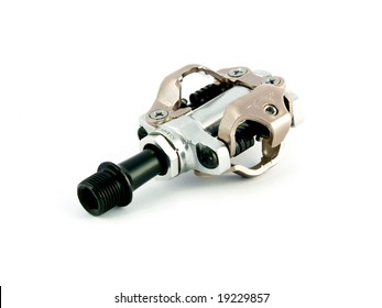 contact cycling pedal isolated on white background