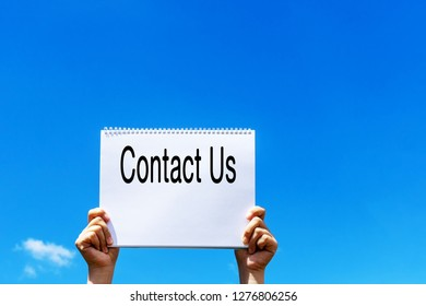 Contact Us announcement - Business concept