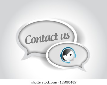 contact us message communication concept illustration design over white