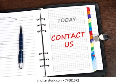 Contact us message on today page