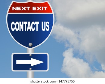 Contact us road sign