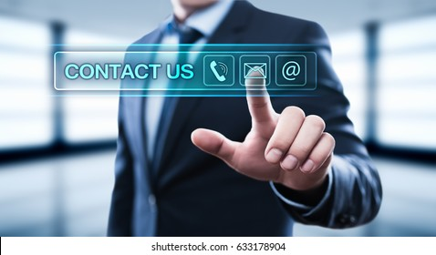 Contact Us Support Service Business Internet Technology Concept