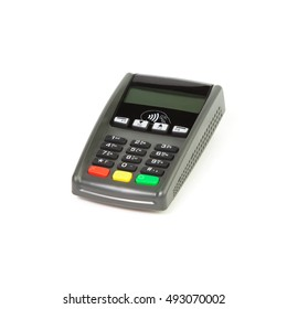 contactless (CTLS) terminal on a white background isolated