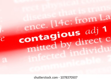 contagious word in a dictionary. contagious concept