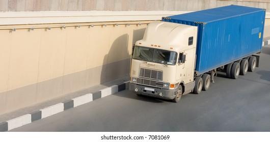 "container american truck of ""Trucks"" series in my portfolio"
