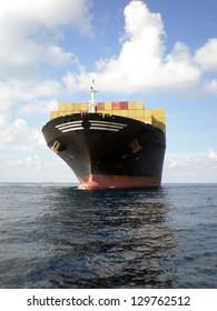 Container Cargo Ship at sea