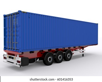 Container Chassis 3d rendering