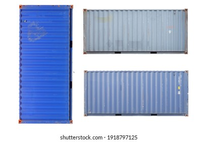 container Cut white background For easy use