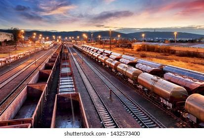 Containerfrachtbahnhof, Güterbahnverkehr