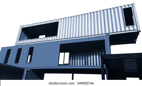 Container living house isolated on white background.