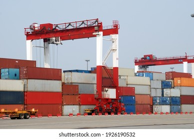 Container loading area of terminal