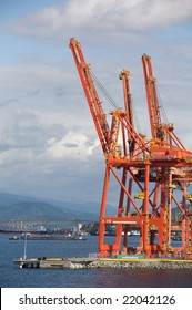Container Port in Vancouver, the largest port in Canada